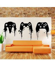 Playstation Controller Paint Splatter Decal By Newmetamedia Gamer Room Playstation Room Video Game Room Decor