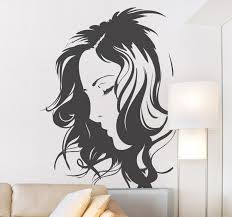 Silhouette Face Wall Decal Tenstickers