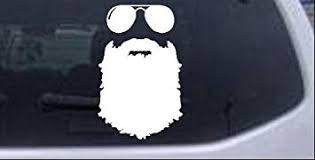 Amazon Com Rad Dezigns Rugged Beard With Sunglasses Country Car Or Truck Window Or Laptop Decal Sticker White 6in X 3 8in Automotive