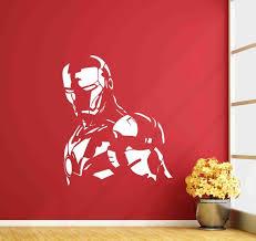 Iron Man Wall Decal Sign Avengers Vinyl Sticker Playroom Etsy