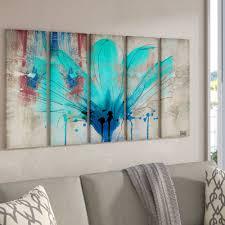 Ebern Designs Painted Petals Lii By Tristan Scott 5 Piece Wrapped Canvas Graphic Art Print Reviews Wayfair