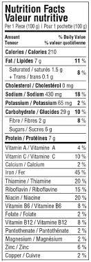hot pocket food label