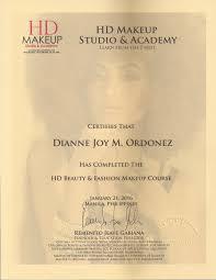 university of makeup certificate