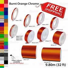 Burnt Orange Chrome Roll Pin Stripe Pinstriping Line Tape Decal Vinyl Stickers Unbrandedgeneric Car Decals Vinyl Vinyl Sticker Pinstriping