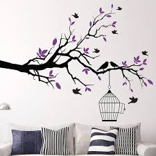 Tree Branch Wall Art Sticker With Bird Cage Removable Vinyl Wall Decals Wall Stickers For Living Room Home Office Decor Sticker Tool Stickers Bikebranch Connector Aliexpress