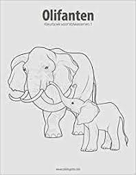 Amazon Com Olifanten Kleurboek Voor Volwassenen 1 Volume 1