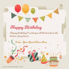 friend written on new birthday wishes card online