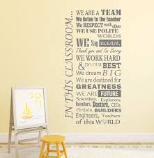 Classroom Wall Decal In This Classroom We Kids Inspirational Etsy