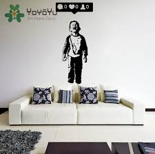 Removable Banksy Vinyl Wall Decal Boy Crying Out For Social Media Attention Child With Facebook Phone Kids Bedroom Poster Ny 57 Decal Boy Vinyl Wall Decalswall Decals Aliexpress