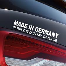 Made In Germany Vinyl Bumper Sticker Decal American Car Sticker For Benz Bmw Vinyl Bumper Stickers Car Stickers Bumper Stickers
