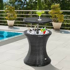 yard table ice cooler patio furniture