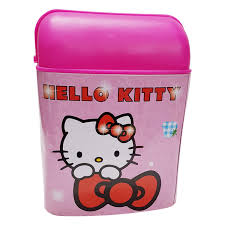 Nora Kids Dustbin Hello Kitty Printed Trash Can For Kids Room Pink Amazon In Home Kitchen