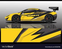 Sport Car Decal Wrap Design Royalty Free Vector Image