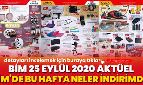Bim Market 25 Eylül 2020 Aktüel Ürünler Kataloğu Yayınlandı! - TeknoGaste