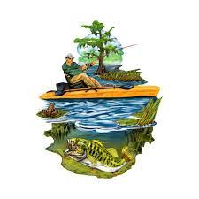 Kayak Fishing Decal Kayak Decal Fish Fish Decal Outdoor Etsy