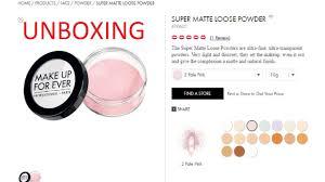 makeup forever matte loose powder