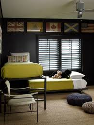 Yellow And Black Kids Bedrooms Contemporary Boy S Room