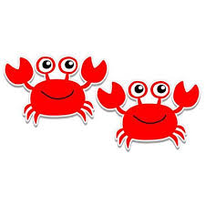 Happy Red Crab Set Of 2 Vinyl Sticker Waterproof Decal Sticker 5 Walmart Com Walmart Com