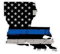 Louisiana State U19 Cop Thin Blue Line Vinyl Yeti Tumbler Decal Sticker Ebay