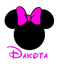 template minnie mouse ears clipart