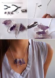 diy raw crystal necklace diy necklace
