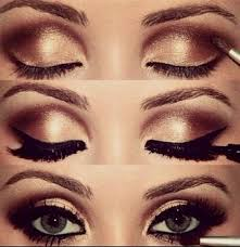 prom makeup for brown eyes and black