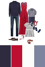 red white and blue family outfits how