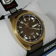 limited edition gold tone brown dial
