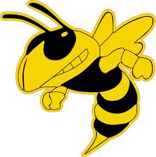 6in X 6in Left Facing Yellow Black Hornet Bee Mascot Bumper Sticker Vinyl Window Decal Stickertalk