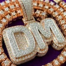 men s 14k rose gold plated custom dm