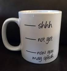 Now You May Speak Coffee Mug Vinyl Decal Diy Coffee Cup Etsy