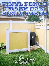 About Us Illusions Fence White Vinyl Fence Vinyl Fence Hide Trash Cans