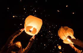 wallpaper night festival sky lantern