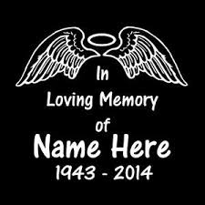 Angel Wings Halo In Loving Memory Window Decal Sticker Custom Sticker Shop