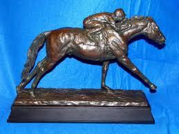 stretch run thoroughbred trophy