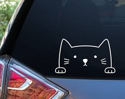 Cat Car Window Decal Car Decal Window Decal Car Stickers Etsy