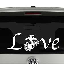 Love With Marine Logo Vinyl Decal Sticker