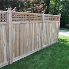 Signature Development 6 Ft H X 6 Ft W Western Red Cedar Checker Lattice Top Fence Panel Kit 6x6chekrtopfkit The Home Depot Fence With Lattice Top Fence Panels Western Red Cedar