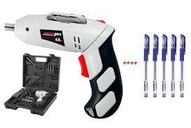 TẶNG KÈM 5 BÚT BI NƯỚC ) Bộ máy khoan và vặn ốc vít đa năng có sạc tích  điện JOUST MAX