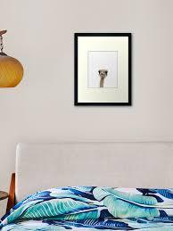 Ostrich Print Nursery Decor Kids Room Minimalist Bird Modern Art Wall Art Framed Art Print By Juliaemelian Redbubble