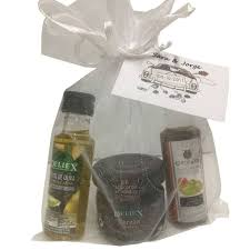 olive oil and vineger for christening gifts