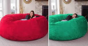 gigantic memory foam bean bags allow