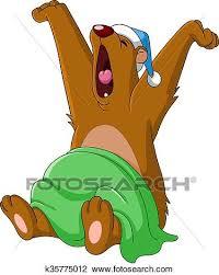 Niedźwiedź, przebudzając Klipart | k35775012 | Fotosearch