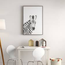 Mack Milo Baby Zebra Black And White Portrait Framed Art Wayfair