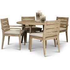 eucalyptus round patio dining set