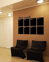 Amazon Com This Week Chalkboard Wall Decal Blackboard Weekly Calendar Sticker Office Products Chalkboard Wall Decal Chalkboard Wall Chalkboard Calendar