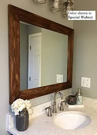 shiplap large wooden framed mirror