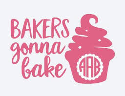 Pin By Mia Torres On Handcrafted By Amr Etsy Diy Vinyl Projects Monogram Decal Bakers Gonna Bake