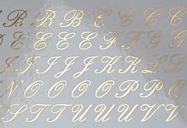 Cursive Alphabet Ceramic Decals Glass Decals Or Enamel Decals Custom Ceramic Decals Glass Fusing Decals Ceramic Luster Decals
