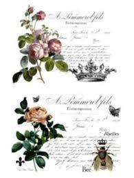 Vintage Image French Flower Labels Furniture Transfers Waterslide Decals Mis635 Ebay